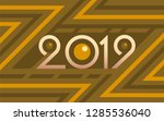2019 geometric numbers on... | Shutterstock .eps vector #1285536040