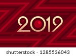 2019 geometric numbers on... | Shutterstock .eps vector #1285536043