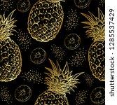 illustration of pineapple on a ... | Shutterstock .eps vector #1285537429