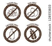 diet icons. gluten free ...   Shutterstock .eps vector #128553833