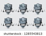 glass shields with silver... | Shutterstock .eps vector #1285543813
