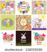easter cards   Shutterstock .eps vector #128555030