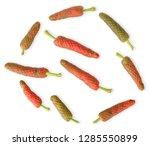 piper longum isolated on white...   Shutterstock . vector #1285550899
