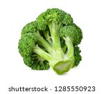 broccoli isolated on white with ...   Shutterstock . vector #1285550923