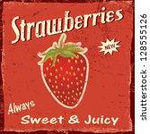 Strawberry Vintage Grunge...