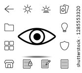 eye icon. simple thin line ...