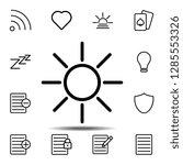 sun icon. simple thin line ...