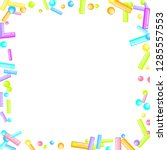sprinkles grainy. sweet... | Shutterstock .eps vector #1285557553
