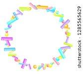 sprinkles grainy. sweet... | Shutterstock .eps vector #1285565629