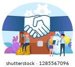 business deal  agreement. small ... | Shutterstock .eps vector #1285567096