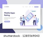 landing page template of mobile ...