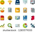 color flat icon set   textbooks ...   Shutterstock .eps vector #1285579333