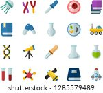 color flat icon set   textbooks ... | Shutterstock .eps vector #1285579489