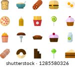 color flat icon set   sausage... | Shutterstock .eps vector #1285580326