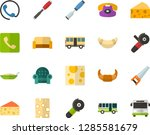 color flat icon set   cheese... | Shutterstock .eps vector #1285581679