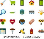 color flat icon set   father's... | Shutterstock .eps vector #1285582609