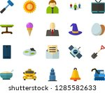 color flat icon set   equinox... | Shutterstock .eps vector #1285582633