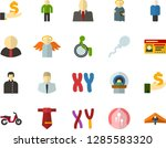 color flat icon set   holy... | Shutterstock .eps vector #1285583320