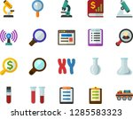 color flat icon set  ... | Shutterstock .eps vector #1285583323