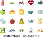 color flat icon set   mothers... | Shutterstock .eps vector #1285586710