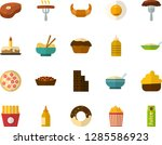 color flat icon set   cake flat ... | Shutterstock .eps vector #1285586923