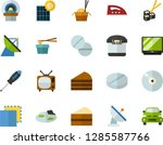 color flat icon set   copy flat ... | Shutterstock .eps vector #1285587766