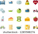 color flat icon set   mothers... | Shutterstock .eps vector #1285588276