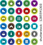 white solid icon set  pen... | Shutterstock .eps vector #1285591303
