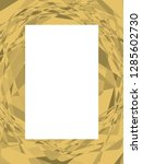 gold colored modern frame... | Shutterstock .eps vector #1285602730