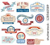 vintage labels and stickers set | Shutterstock .eps vector #128560589