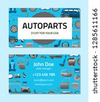 autoparts business card... | Shutterstock .eps vector #1285611166