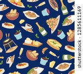 french cuisine vector... | Shutterstock .eps vector #1285611169