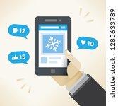 businessman holding mobile... | Shutterstock .eps vector #1285633789
