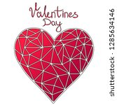 abstract heart  valentine's day.... | Shutterstock .eps vector #1285634146
