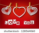 valentine s day card. white... | Shutterstock .eps vector #128564060