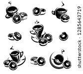 donut set. donuts collection...   Shutterstock .eps vector #1285643719