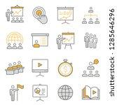 presentation line icons. set of ... | Shutterstock .eps vector #1285646296