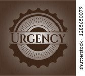 urgency wood emblem   Shutterstock .eps vector #1285650079
