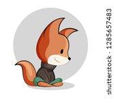 vector illustration of a cute...   Shutterstock .eps vector #1285657483