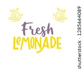 fresh lemonade. modern... | Shutterstock .eps vector #1285664089