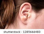close up of female ear. | Shutterstock . vector #1285666483