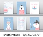 set of birthday cards  poster ... | Shutterstock .eps vector #1285672879