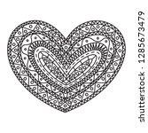 graphic heart  vector | Shutterstock .eps vector #1285673479
