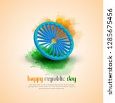 indian republic day concept... | Shutterstock .eps vector #1285675456