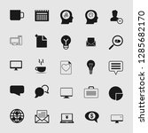 vector business office icons...   Shutterstock .eps vector #1285682170
