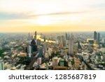 abstract blur bangkok cityscape ... | Shutterstock . vector #1285687819