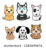 dogs cute set | Shutterstock .eps vector #1285690876