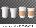coffee cup takeaway with cover... | Shutterstock .eps vector #1285696699