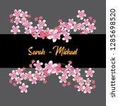 flower border with horizontal... | Shutterstock .eps vector #1285698520