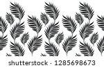 seamless black and white leaves ... | Shutterstock .eps vector #1285698673